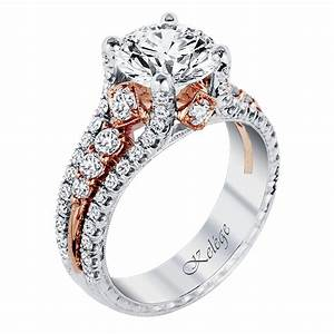 kpr 587 2 platinum and rose gold engagement ring jack With platinum and gold wedding rings