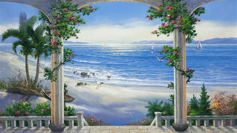 Painted Wall Murals Nature
