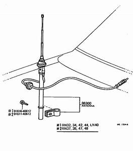 1982 Toyota Pickup Antenna Assembly  With Holder