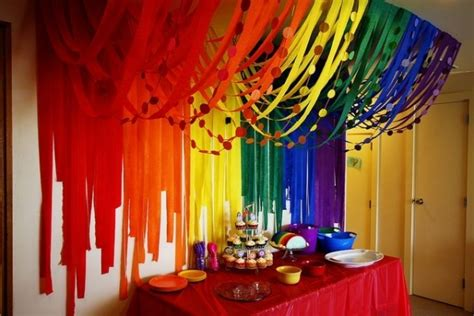 cool cheap decorations 4 streamer rainbow 46 eye catching party decorations for your next