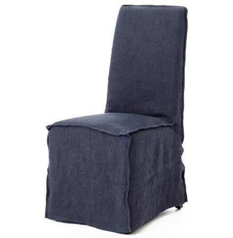 linen slipcover chair lena modern navy blue wrinkle linen slipcover
