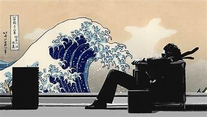 Wave Japanese Kanagawa Waves Maxell Chairs Artwork