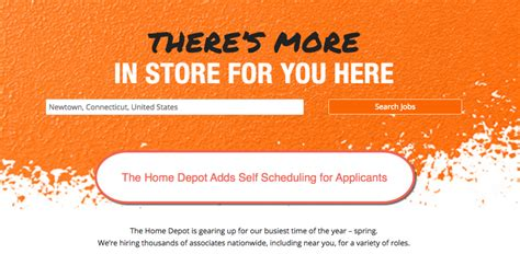 Home Depot Now Hiring by Home Depot Adds Self Service Scheduling Tool For