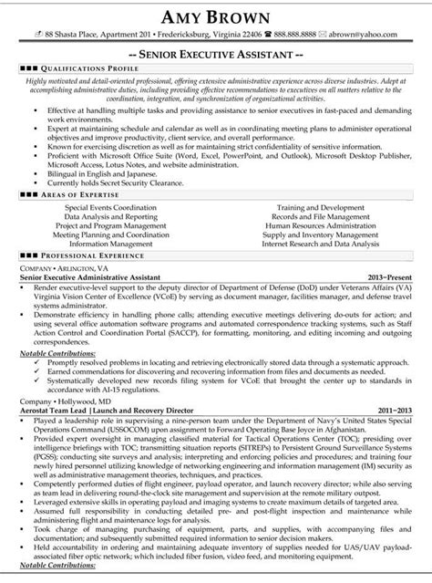 senior executive resume senior executive assistant resume sample resume