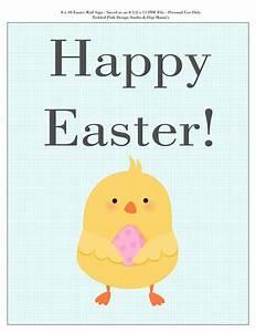 Happy Easter Sign Printable - FREEBIE! | Easter & Spring ...