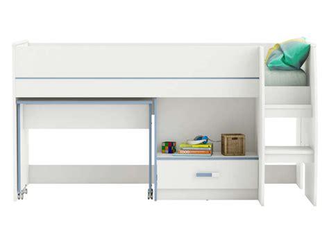 combiné lit bureau conforama lit superposé 90x200 cm acacia bibop coloris acacia pas