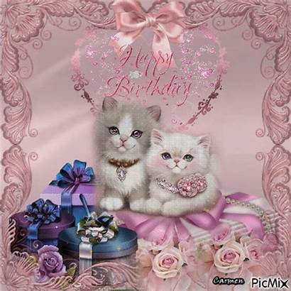 Birthday Happy Cat Kitty Gifs Fancy Animation