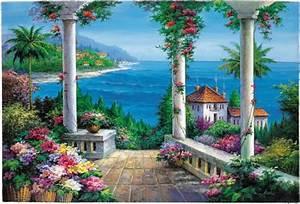 Large, Wall, Murals, Garden, Mural, Mural