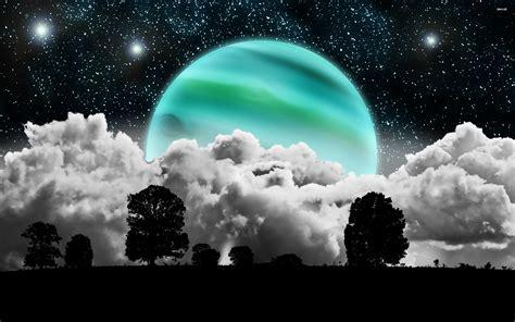 Blue Moon Widescreen Hd Wallpaper