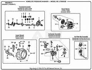 Homelite Ut80953d Pressure Washer Parts Diagram For Figure C