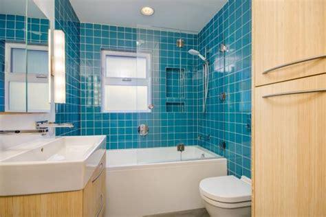 Modern Bathroom Blue by Modern Bathroom With Bright Blue Tile Hgtv