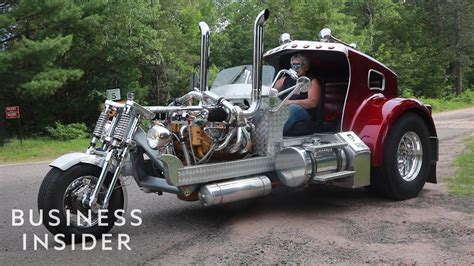 Custom Trike Looks Like A Semitruck