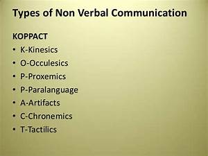 Types Of Nonverbal Communication Kinesics Or Its Not | the ...