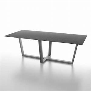 Table Sejour Design : table de s jour design en c ramique rectangulaire pieds en m tal viktor 4 ~ Teatrodelosmanantiales.com Idées de Décoration
