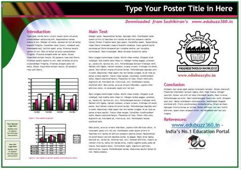 poster template word professional a3 templates for project poster presentation