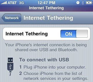 how to tether iphone tethering iphone 4 to laptop windows 7