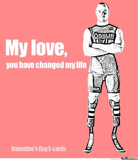 Valentines Day Ecards Meme - oscar pistorius valentine s day e card by anthropoceneman meme center