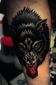 Black Wolf Tattoo By George Warhol