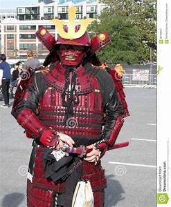 Red Samurai Warrior editorial photography. Image of ...