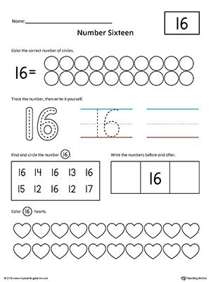 preschool writing numbers printable worksheets