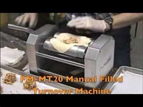 pm mt manual filled turnover machine youtube