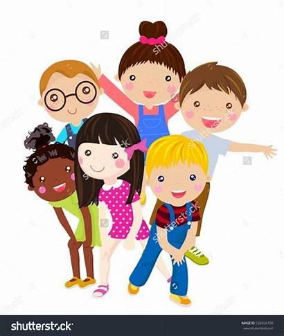 Fun Clipart Having Friends Children Vector Clip