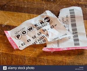 New York Powerball Losing Lottery Ticket Stock Photo ...