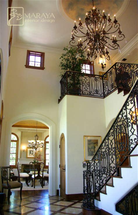 santa barbara stairwell foyer mediterranean staircase santa barbara  maraya interior design