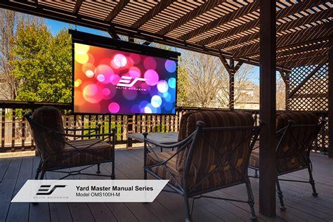 diy outdoor movievideo projector screen elite screens