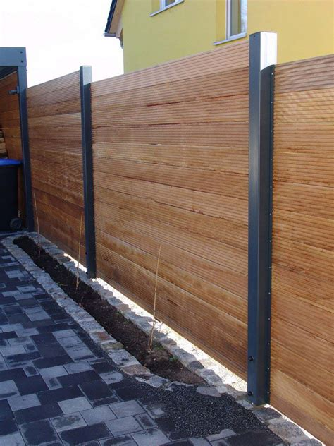Zaun Holz Metall by Sichtschutzzaun Holz Metall Carport Anbau Verl 228 Ngerung