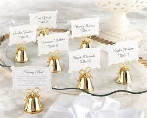 wedding bell favors gold bell place card holders set of 24