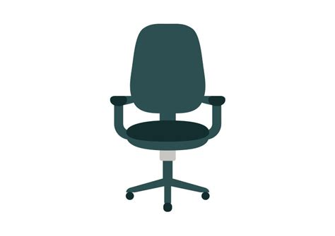 office chair flat vector icon superawesomevectors