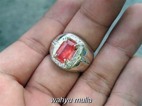 batu cincin permata orange safir paparadscha asli kode 790 wahyu mulia