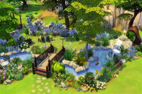 Blackys Sims 4 Zoo Secret Garden By Mystril • Sims 4