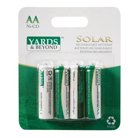 solar light batteries living accents yards beyonds nicd aa solar rechargable