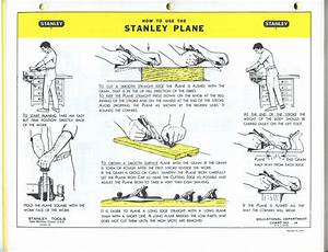 Stanley Handplane Instructions  Circa 1968
