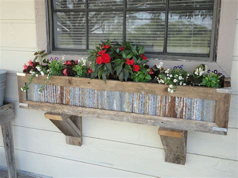 handcrafted rustic window box planters   reclaimed