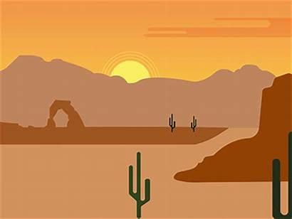 Western Scene Dribbble Sunset Landscape Cactus Camera