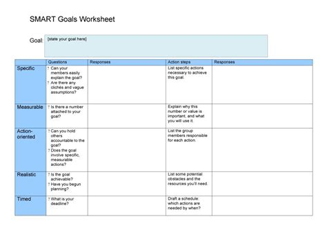 smart goals template for 48 smart goals templates exles worksheets template lab