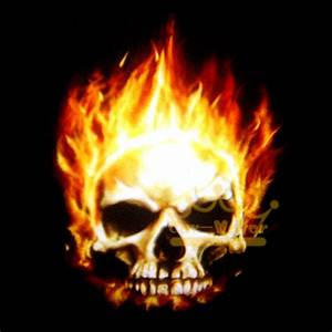Ghost Rider Skull In Flames Ghost Rider Wallpaper Free ...