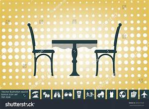 Table Chairs Icon Vector Illustration Eps Stock Vector