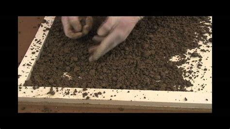 making  sand stone texture  concrete countertops