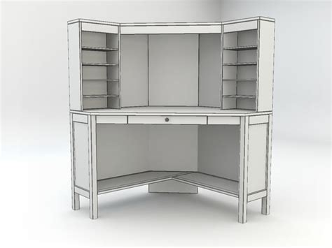 ikea hemnes white corner desk ikea hemnes workstation corner 3ds