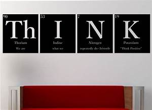 thinkquotquotwith quotequotquot periodic table elements vinyl wall With awesome science wall decals