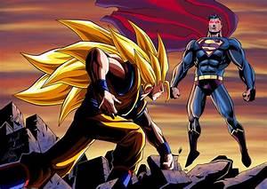 Goku vs Superman Colored by SWAVE18 on DeviantArt