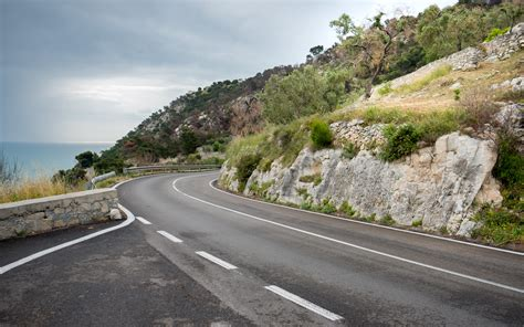 curve   road landscape image  stock photo