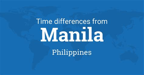 time difference  manila philippines   world