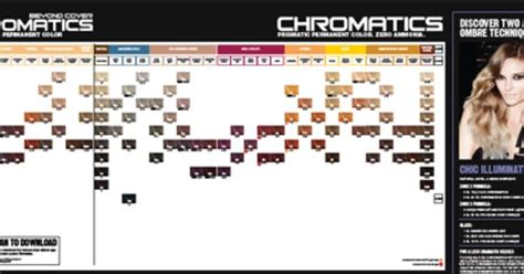 Redken Chromatics Shade Chart And Instructions 1