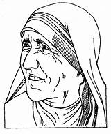 Teresa Nun Coloring Pages Cliparts St Template Calcuta Clipart Colouring Favorites Madre sketch template