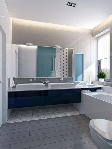 Modern Bathroom Blue by Modern Vibrant Blue Bathroom 1 Interior Design Ideas